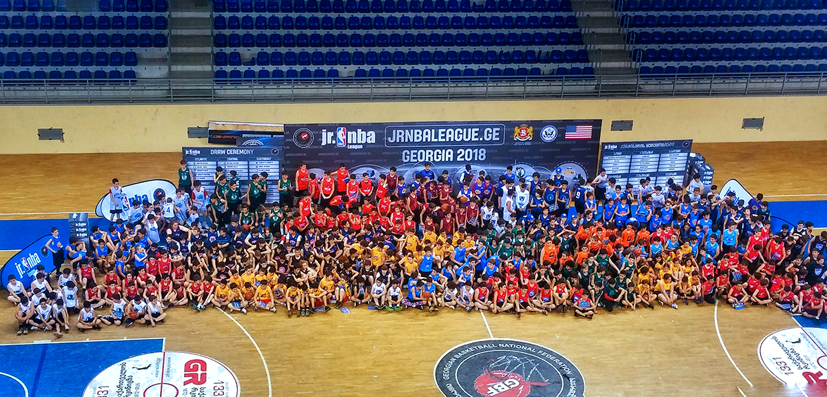 Tbilisi Olympic Palace hosted the Junior NBA-GBF League sortation