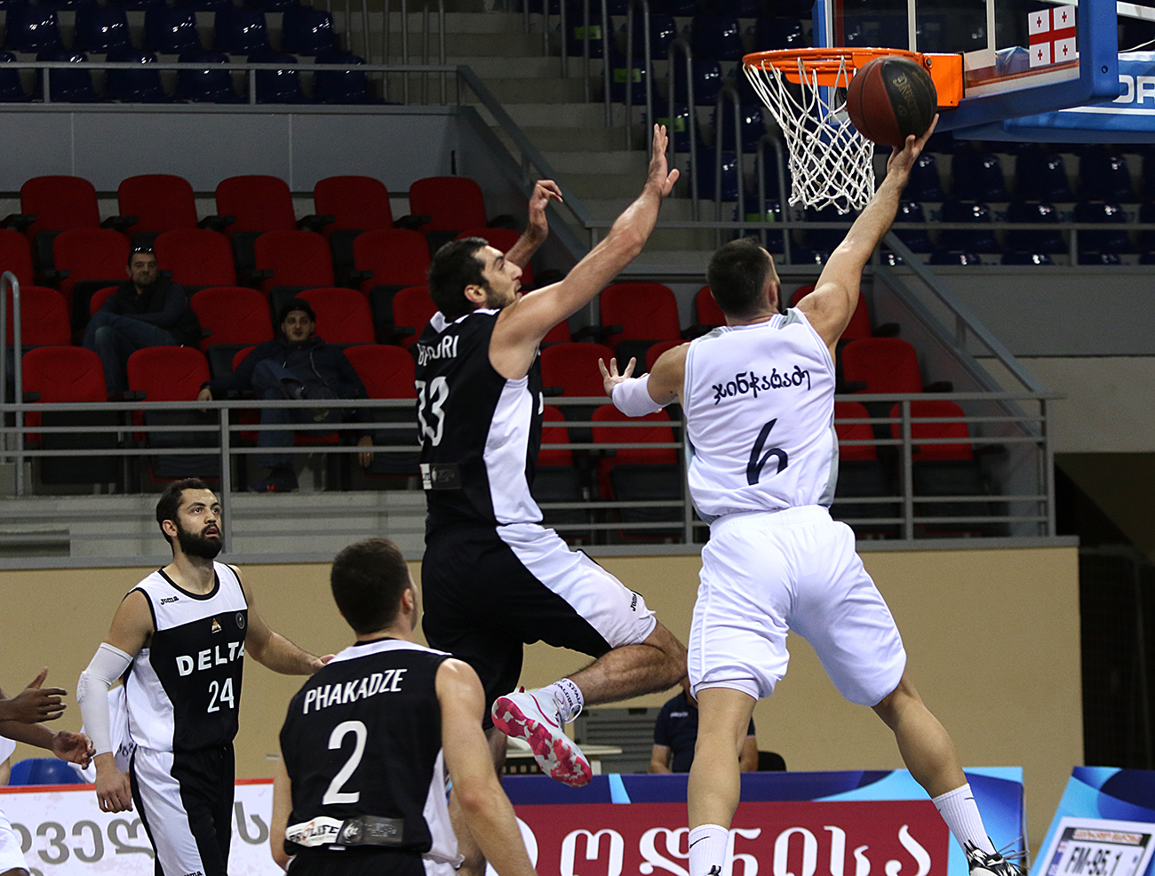 Mgzavrebi defeated Delta 81:74 in the opening match of the Super League