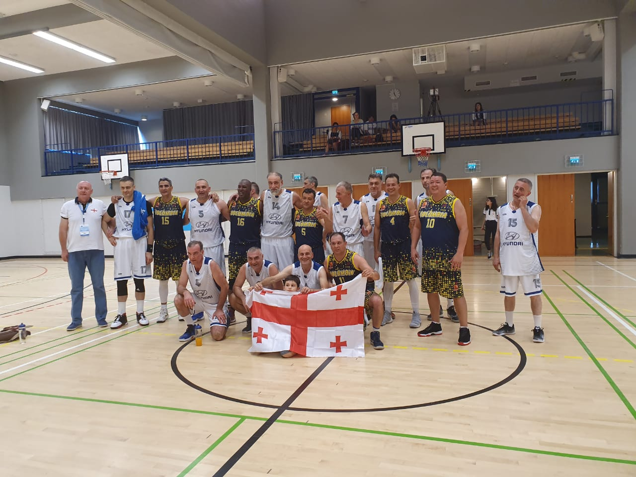 Georgian Veterans lost with Brazil by 2 points