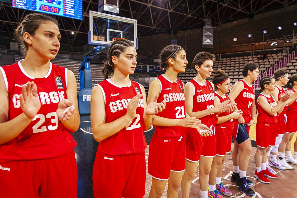 Georgian U18 Girls' Team started European Championship with a victory against Gibraltar