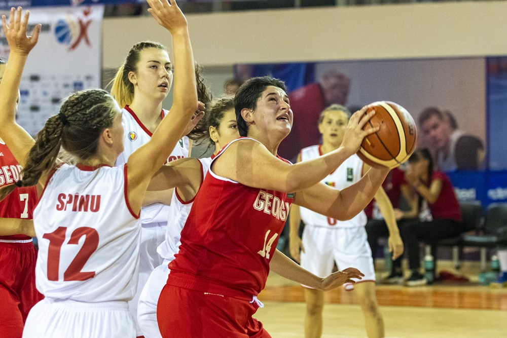 Georgian U16 girls' team defeated Moldova 71:37