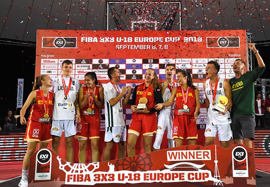 3X3 U18 Europe Cup Prize Ceremony
