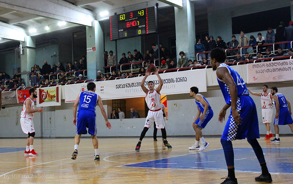 Rustavi defeated Olimpi by 35 points
