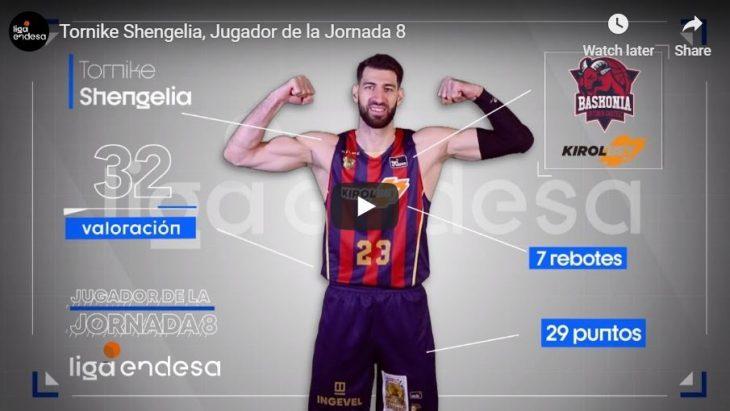 თორნიკე შენგელია ესპანეთის ჩემპიონატის მე-8 ტურის საუკეთესო მოთამაშე გახდა