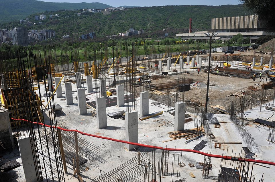 Construction of a new sports palace in Tbilisi is going without delay