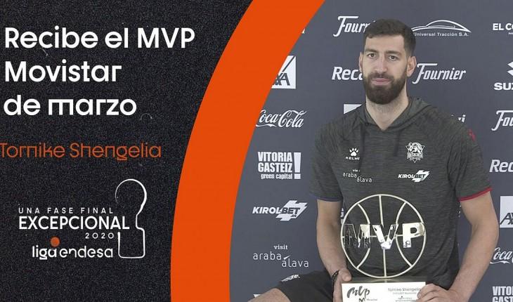 თორნიკე შენგელია ესპანეთის ჩემპიონატის მარტის საუკეთესო მოთამაშედ დაასახელეს