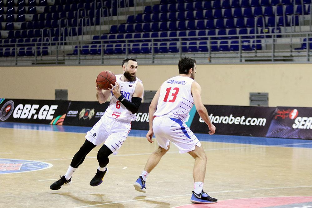 Olimpi beats Mgzavrebi with Jintcharadze's three-pointer