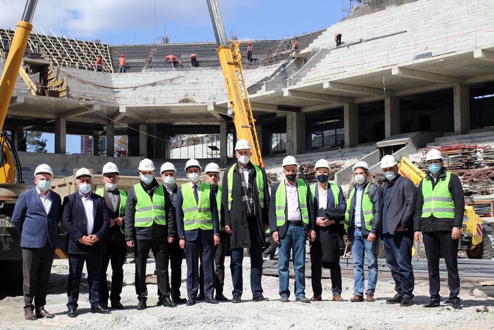 ევრობასკეტისთვის ახალ მშენებარე დარბაზს სამუშაო ვიზიტით FIBA ევროპის დელეგაცია ესტუმრა