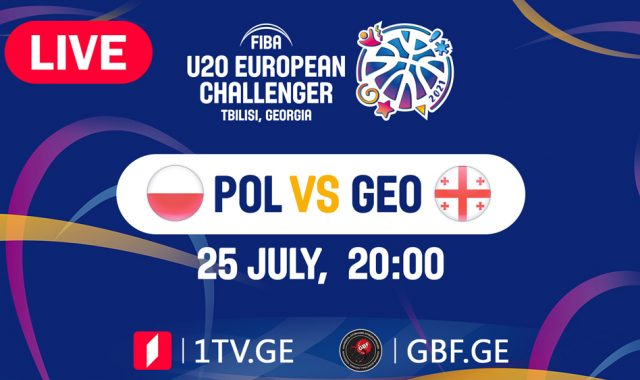 LIVE! Poland VS Georgia #FIBAU20EUROPE