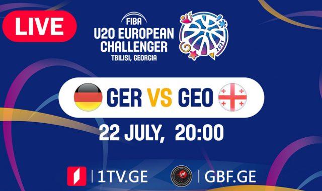 LIVE! Germany VS Georgia #FIBAU20EUROPE