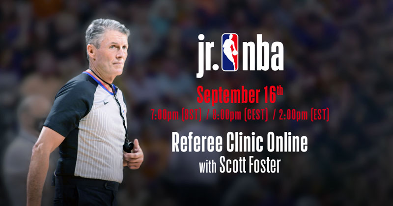Jr. NBA Referee Clinic - Online with Scott Foster